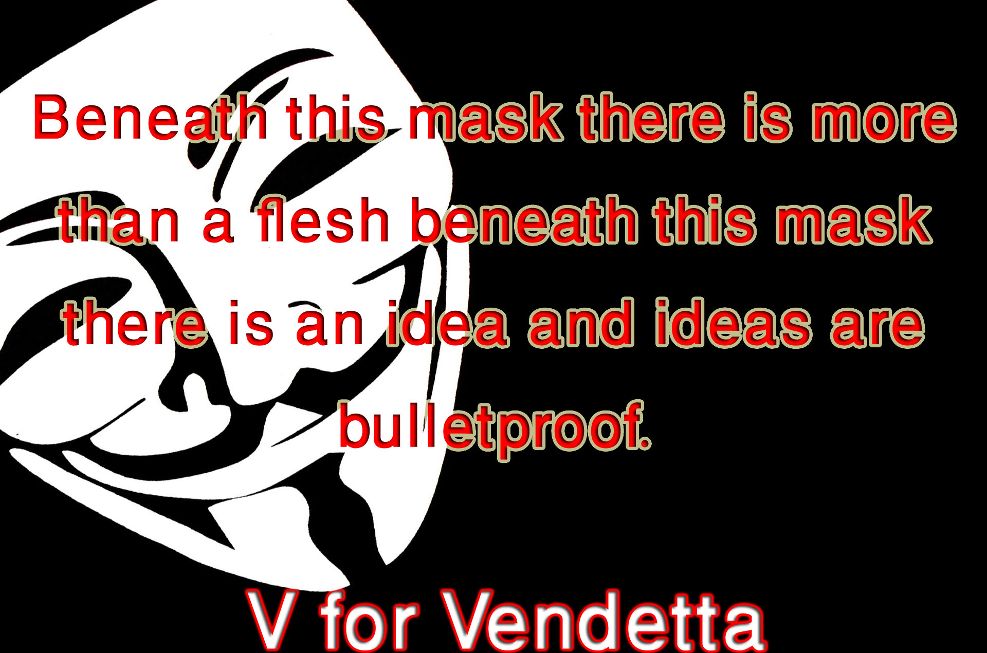 an analysis of government power in v for vendetta movie Dollars & sense power to the paper  the wachowskis acquired the rights to v  for vendetta in the mid-1990s, then promptly  it took nine months of negotiating  with 14 government departments for the filmmakers to gain permission to film on   the network will air every episode from the past 10 seasons, meaning that in .